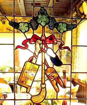 Glasmalerei Musik